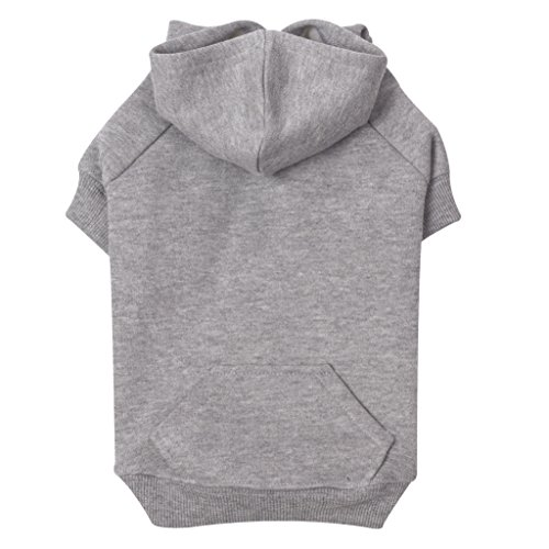Zack & Zoey Basic Hoodie for Dogs, 12″ Small, Heather Gray
