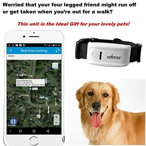 Pet Tracker,Hangang Pet GPS Tracker for Dog, The 2nd Generation Anti- Lost Dog Tracker Dog GPS Collar Global GPS/GSM SIM Long Standby,Waterproof with APP Tracking