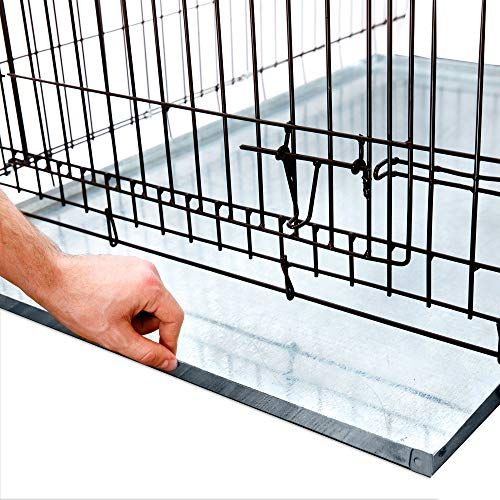 KOPEKS – Heavy Duty Multipurpose Replacement Metal Tray – Galvanized – Rust & Crack Proof – Several for Pet Crates, Grease Trap and Others (41 x 27 Inches, Metal Tray)