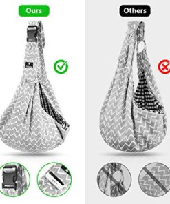 Jekeno Small Dog Sling Cat Carrier Adjustable Strap Hands Free Pet Puppy Travel Bag Backpack for Women Girls (White Gray)