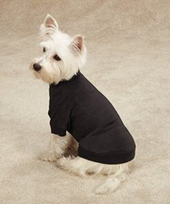 Zack & Zoey Basic Tee Shirt for Dogs, 14″ Small/Medium, Black