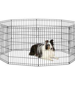 New World Pet Products B552-30 Foldable Exercise Pet Playpen, Black, Medium/24″ x 30″