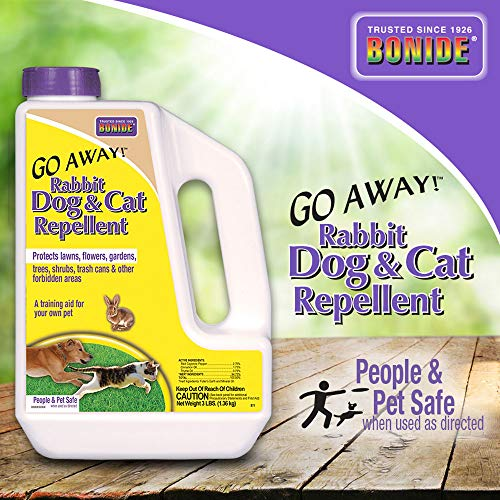 Bonide (BND871) – Go Away! Rabbit, Dog & Cat Repellent, Outdoor Animal Repellent Granules (3 lb.)