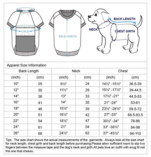 Blueberry Pet Essentials 2020 New Soft & Comfy Better Basic Cotton Blend Dog Sweatshirt in Burgundy Red, Back Length 20″, Pack of 1 Jacket for Dogs