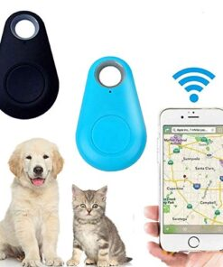 Smart GPS Tracker, Key Finder, Locator, Wireless Anti-Lost Alarm Sensor Device, Used for Phone, Keychain, Wallet, Luggage, pet cat and Dog Tracker, Selfie Shutter 2 pcs Black+Blue (2 pcs Blue+Black)