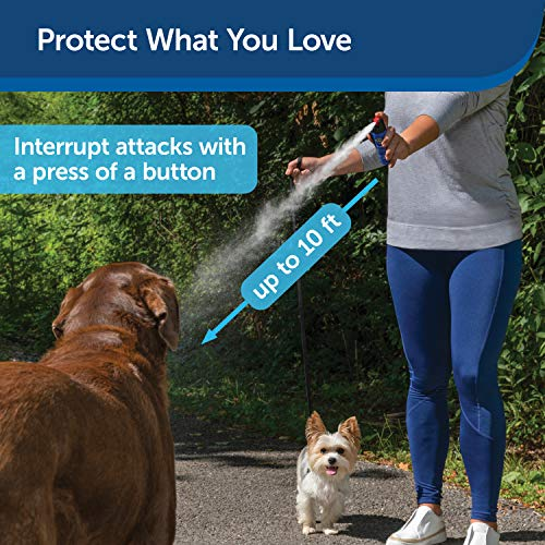 PetSafe SprayShield Animal Deterrent with Clip – Citronella Dog Repellent Spray – Ranges up to 10 ft – 2.4 oz / 71 mL – Protect Yourself and Your Pets