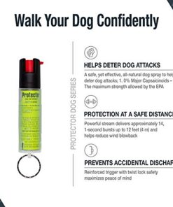 SABRE RED Dog Spray—Maximum Strength Protector Pepper Spray Dog Attack Deterrent—All-Natural and Effective, Green Dog Pepper Spray