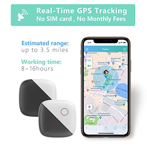 PETFON Dog GPS Pet Tracker, No Monthly Fee, Real-Time Tracking Collar Device, APP Control (Only for Dog) Activity Monitor