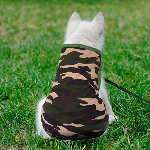 9 Pieces Printed Pet Shirt Summer Pet T Shirt Cool Puppy Shirts Cotton Dog T-Shirts Soft Breathable Dog Sweatshirt for Small Medium Dogs Cats (Small)
