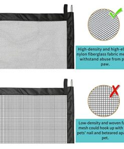 "Pet Gate Baby Gate, LIUMY Indoor Outdoor Retractable Dog Gate, with Portable Folding Mesh Safety Gate, for The House Providing a Safe Enclosure to Play and Rest, Extends up to 40.4"" X 29.5 (Black)"