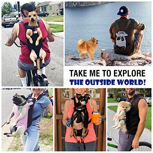 Pawaboo Pet Carrier Backpack, Adjustable Pet Front Cat Dog Carrier Backpack Travel Bag, Legs Out, Easy-Fit for Traveling Hiking Camping for Small Medium Dogs Cats Puppies, Extra Large, Black