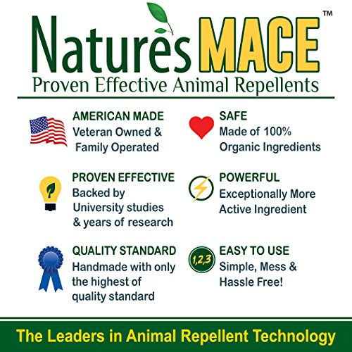 Nature's MACE Dog Repellent 2.2LB / Treats 1,400 Sq. Ft. / Keep Dogs Out of Your Lawn and Garden / Train Your Dogs to Stay Out of Bushes / Safe to use Around Children & Plants