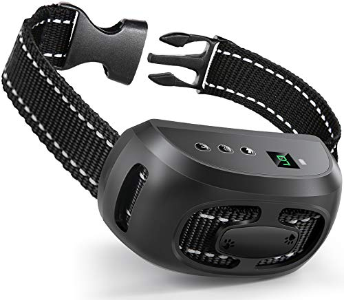 Dog Bark Collar, No Barking Shock Collar Anti Bark Rechargeable Dog Training Collar with Beep Vibration and Shock, 9 Adjustable Sensitivity Levels for Small Medium Large Dog