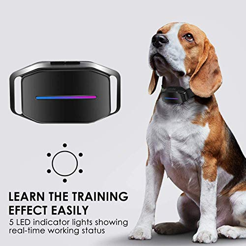 Dogcare Bark Collar – Dog Bark Collar with Intelligent Bark Control, Effective Sound, Vibration, Automatic Shock Modes Training Collar with LED Indicator, Easy to Use Dog Shock Collar