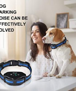 Bark Collar Dog Bark Collar Rechargeable Shock Anti Bark Collar with Beep Vibration Dog Shock Collar for Small Medium Large Dogs, Humane Dog Training Device with 5 Adjustable Sensitivity Levels