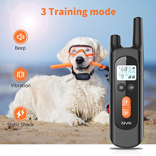Dog Training Collar, Dog Shock Collar with 2600Ft Remote, Waterproof Rechargeable Dog Collar with Vibration, Beep Shock Modes, Adjustable 0 to 99 Shock Levels Dog Training Set