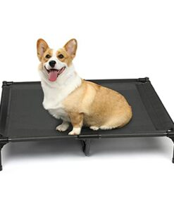 yoken Elevated Dog Bed, Portable Raised Dog Bed Cot with Washable & Breathable Mesh, Indoor & Outdoor No-Slip Feet Steel-Framed Dog Beds for Large Dogs