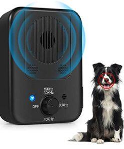Bark Control Device, Upgraded Anti Barking Control Devices Ultrasonic Dog Bark Deterrent Pet Behavior Training Tool with 3 Levels, Outdoor Sonic Bark Deterrents Silencer Stop Barking