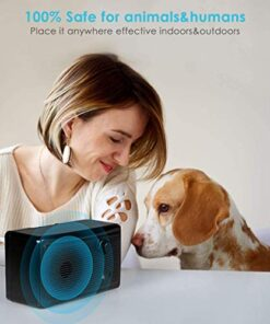Anti Barking Device, 2-in-1 Bark Control Device and Dog Training, Ultrasonic Dog Barking Deterrent, Waterproof Bark Box, Effective and Safe Sonic Barking Control Devices for Outdoor (Max 50 Feet)