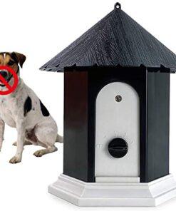 Anti Barking Device, 2021 Upgrade Ultrasonic Bark Deterrents, Bark Control Device for Outdoor, Up to 50 Feet Range (Black)