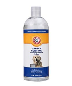 Arm & Hammer for Pets Dental Water Additive for Dogs, Tartar Control | Dog Dental Care Reduces Plaque & Tartar Buildup Without Brushing | 16 Ounces, Odorless and Flavorless