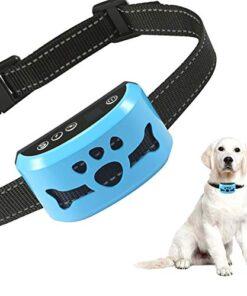 Bark Collar Dog Bark Collar Rechargeable Anti Barking Training Collar with 7 Adjustable Sensitivity and Intensity Beep Vibration for Small Medium Large Dogs