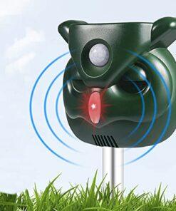 Dog Cat Deterrent for Gardens, Animal Deterrence Outdoor Upgraded Owl Shape, Motion Sensor and Flashlight, Outdoor Waterproof Farm Garden Paddock, Dog, Cat, Bird, Squirrel