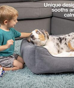 [New] PetFusion Calming Cuddler Dog Bed | Small, Medium | Promotes Natural Burrowing | Solid CertiPUR-US Memory Foam | Anti-Anxiety, Ultra-Cozy Loose Blanket | 1 Year Warranty